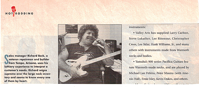 Rich at Warmoth back in the day.