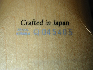 Country of manufacture stamp.